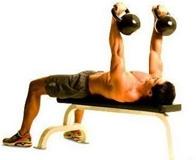Как накачать грудные мышцы при помощи гири?