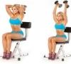 Эффективные упражнения для женщин на накачку трицепса