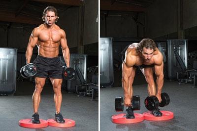 Лучше всего использовать для такой тренировки грузы по 8 или 16 кг. Более тяжелый вес больше подходит для занятий опытным бодибилдерам.
