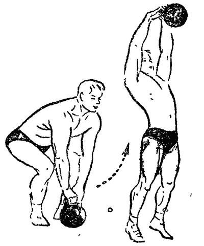 Перед тренировкой с гирями рекомендуется надевать на руки специальные перчатки, чтобы кисти не соскальзывали с утяжелителя.