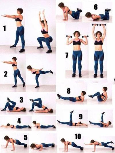 Один из эффективных комплексов упражнений, которые можно выполнять дома. Минус в тройку другую килограмм обеспечен