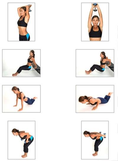 Упражнения на руки в домашних условиях женщин
